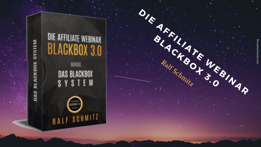 Die Affiliate Webinar BlackBox 3.0 im Review digitalen Infoprodukten